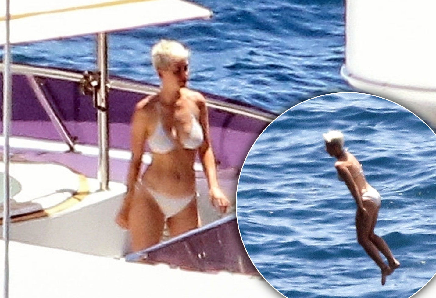 Katy Perry Yacht Bikini Photos