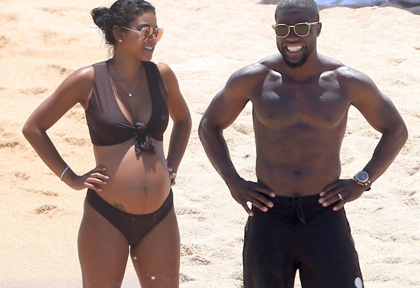[PHOTOS] Kevin Hart Whisks Pregnant Wife Away Amid ...