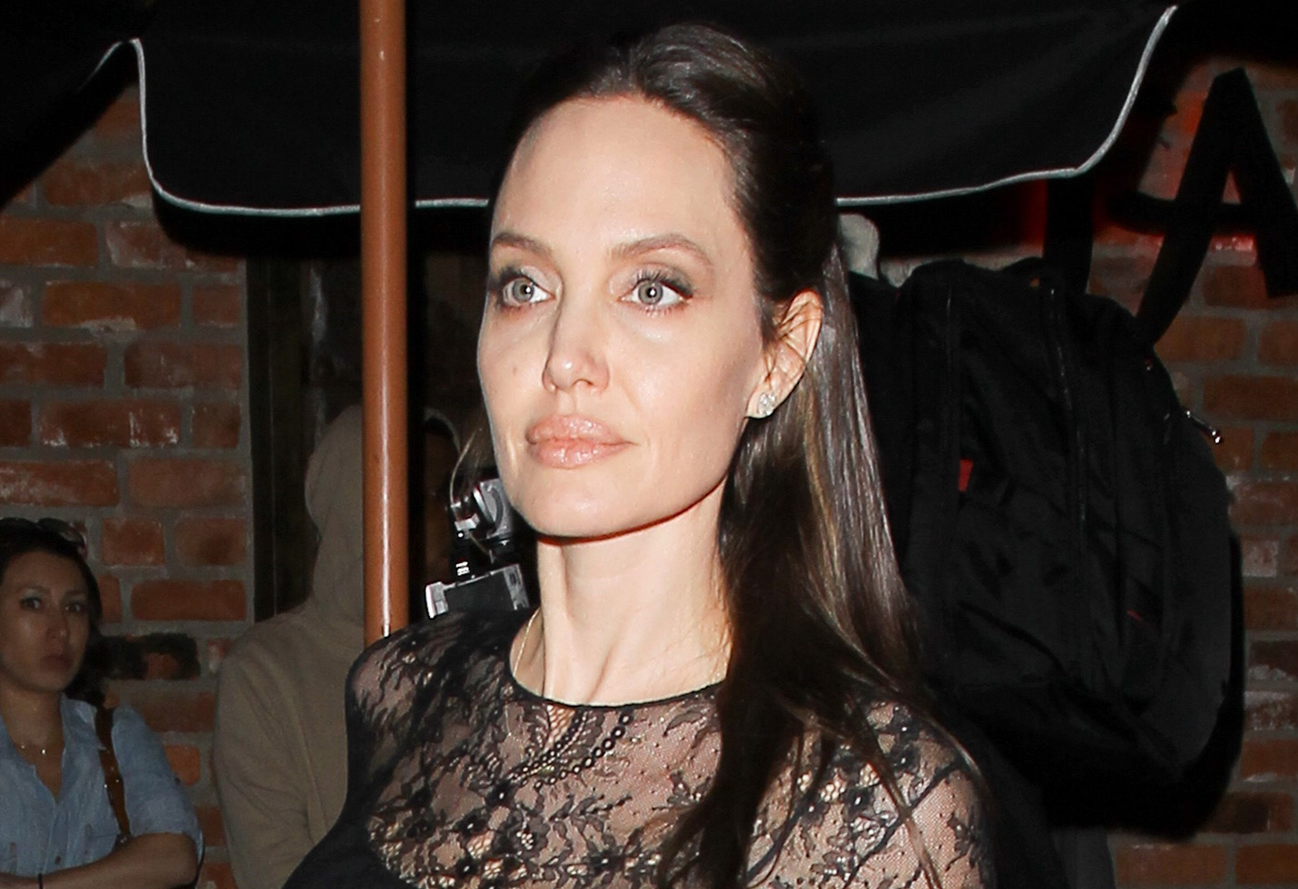 Angelina Jolie dines with son Pax Jolie Pitt at TAO on Mother's Day