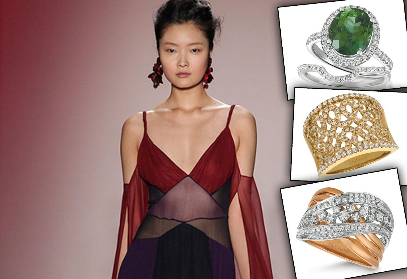 Fashion week color block jewelry star
