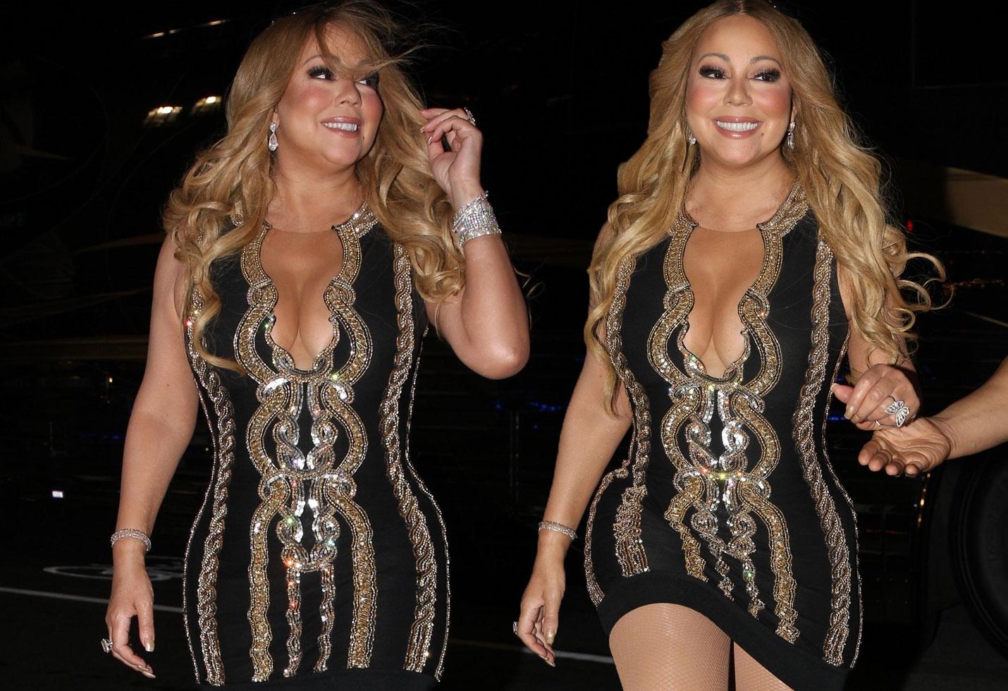 Mariah Carey Curvy Black Dress