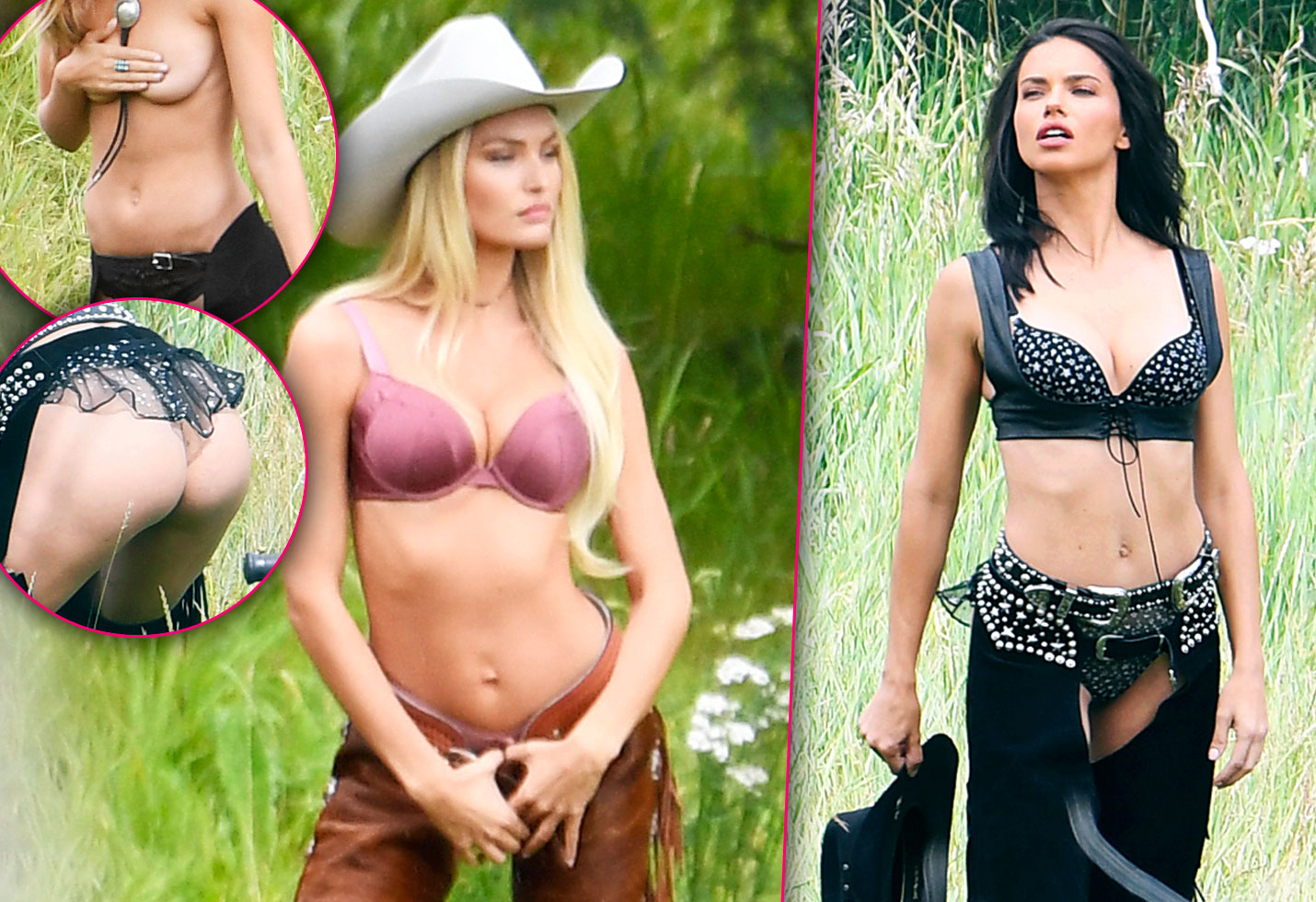 Victoria Secret models naked topless cowgirls