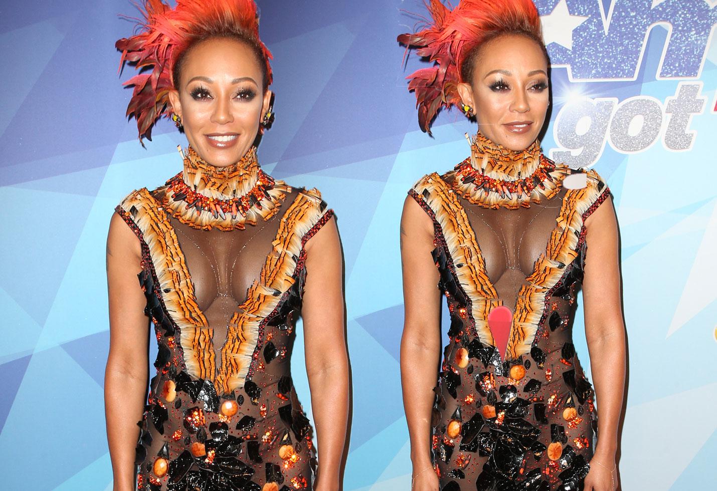 Mel B Americas Got Talent Premiere Crazy Outfit