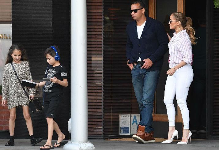 Jennifer Lopez, Alex Rodriguez, Emme Muniz, Maximilian Muniz