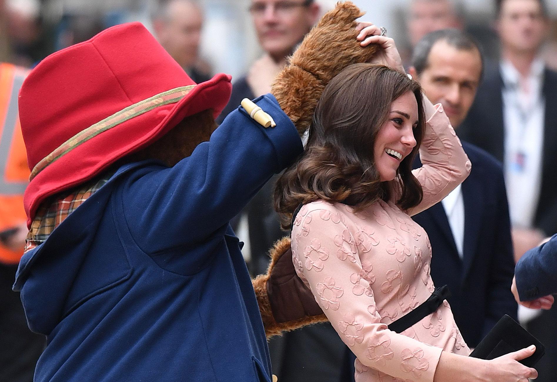 Pregnant Kate Middleton Dances Paddington Bear feature