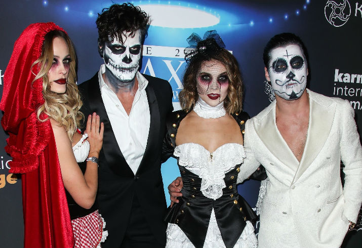 Peta Murgatroyd Maksim Chmerkovskiy Val Chmerkovskiy Jenna Johnson  sc 1 st  Star Magazine & Stars Wear Awesome Costumes To Maximu0027s Halloween Party | Star Magazine