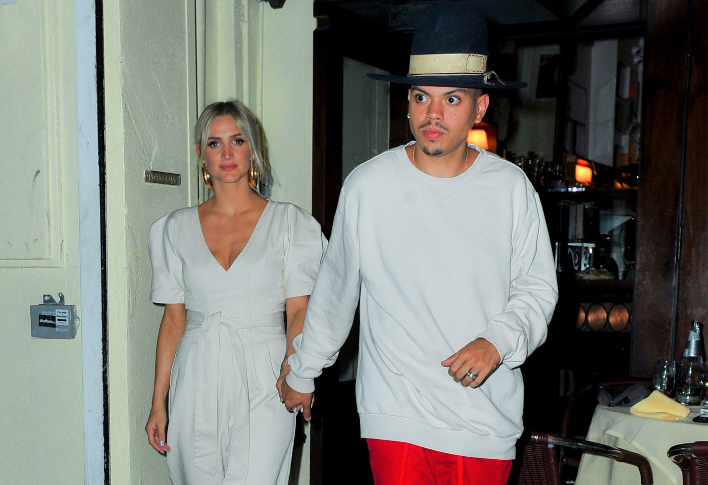 Ashlee Simpson and Evan Ross have a romantic night out in New York
