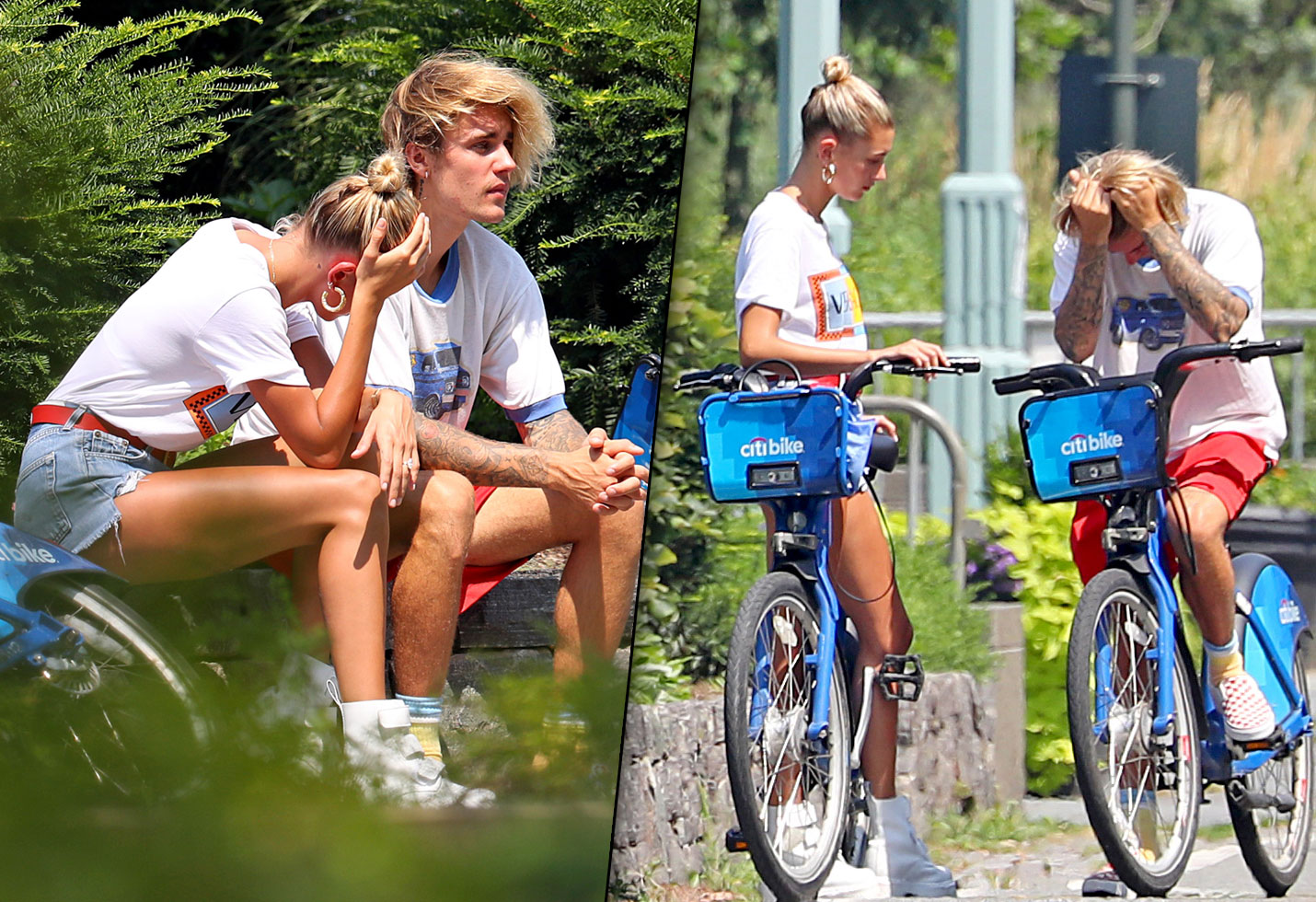 Justin Bieber Hailey Baldwin Crying Bikes