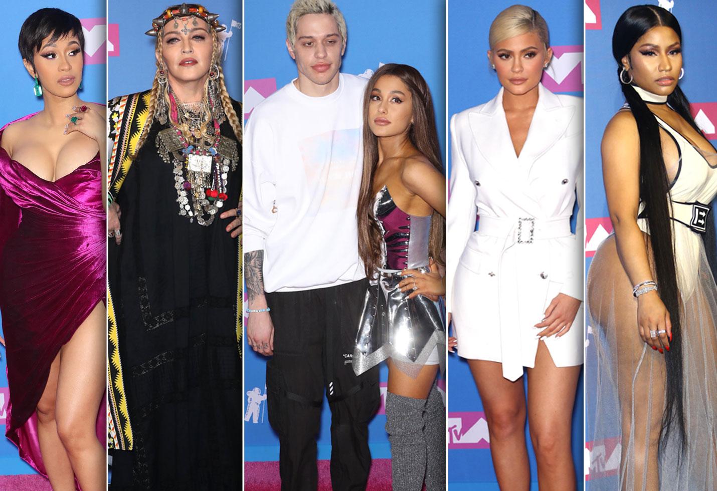 4fae124c2d MTV VMAs Round Up Cardi B Madonna Ariana Grande Pete Davidson Kylie Jenner  Nicki Minaj