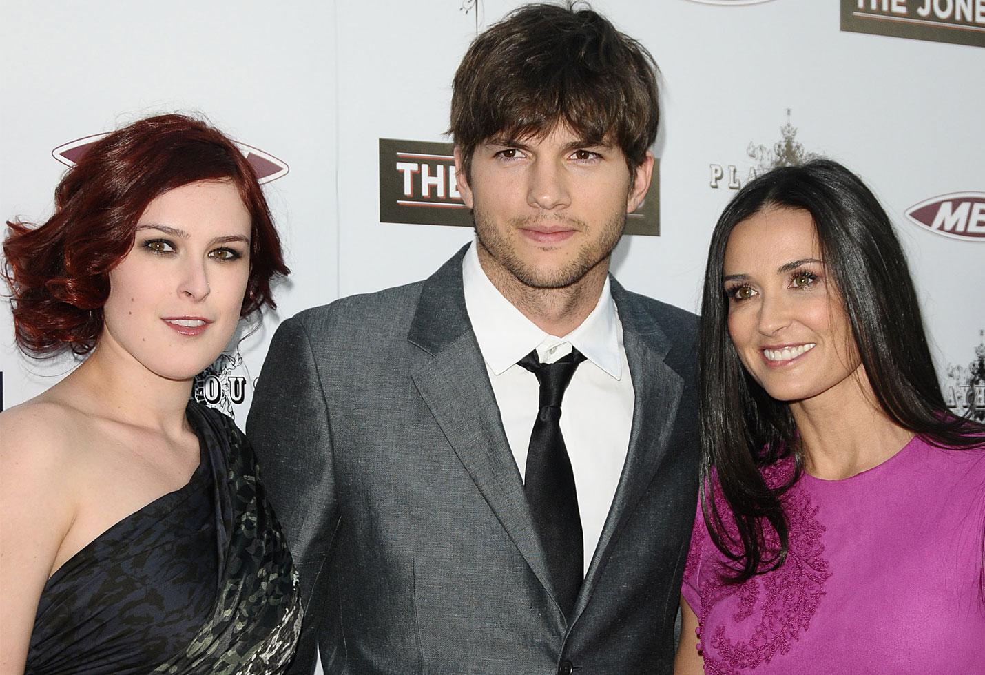 Ashton kutcher rumer willis demi moore mila kunis house