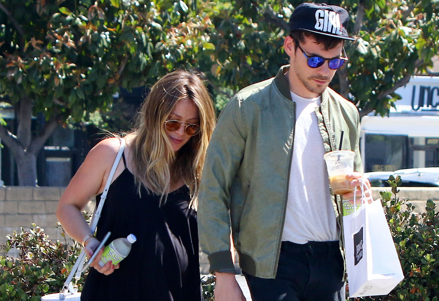 Hilary Duff engaged pregnant baby bump due date boyfriend