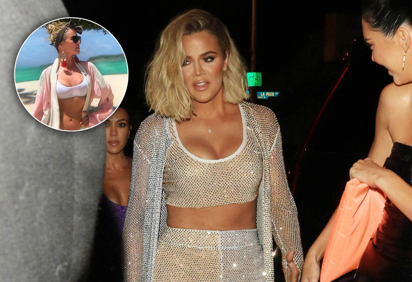 Khloe Kardashian Bikini Baby Weight Loss 1