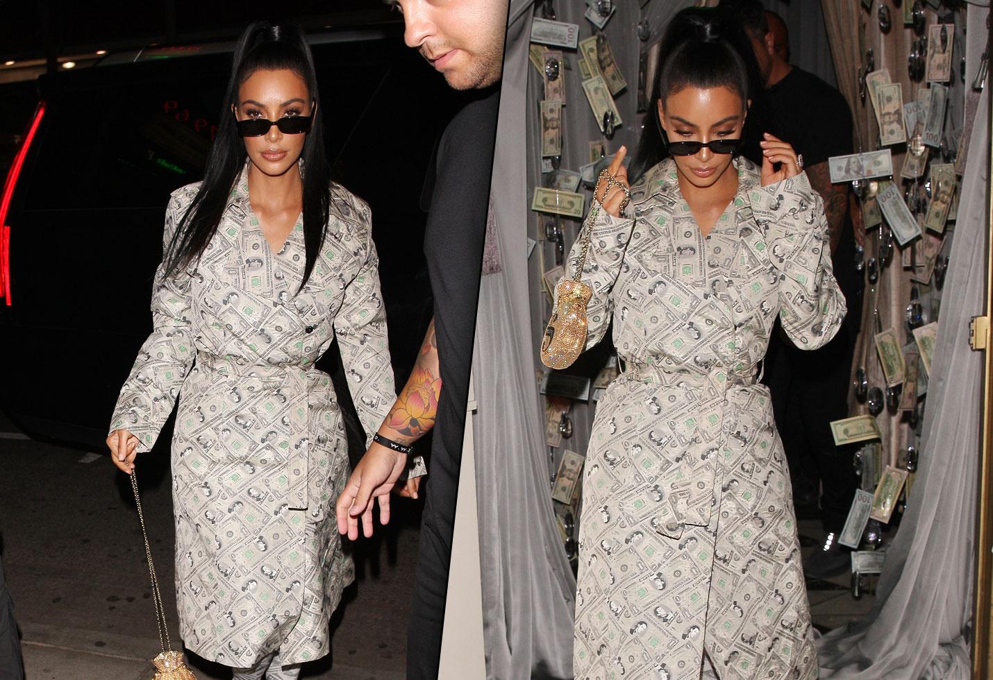 Kim Kardashian money dress Kylie Jenner Kris Anastasia Beverly Hills