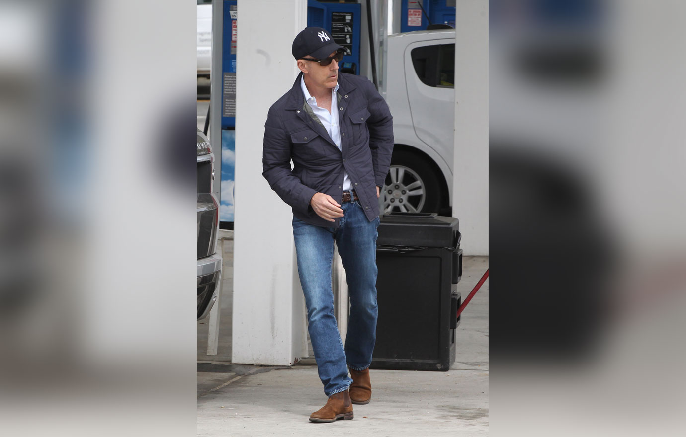 Matt Lauer Seen Getting Gas in the Hamptons