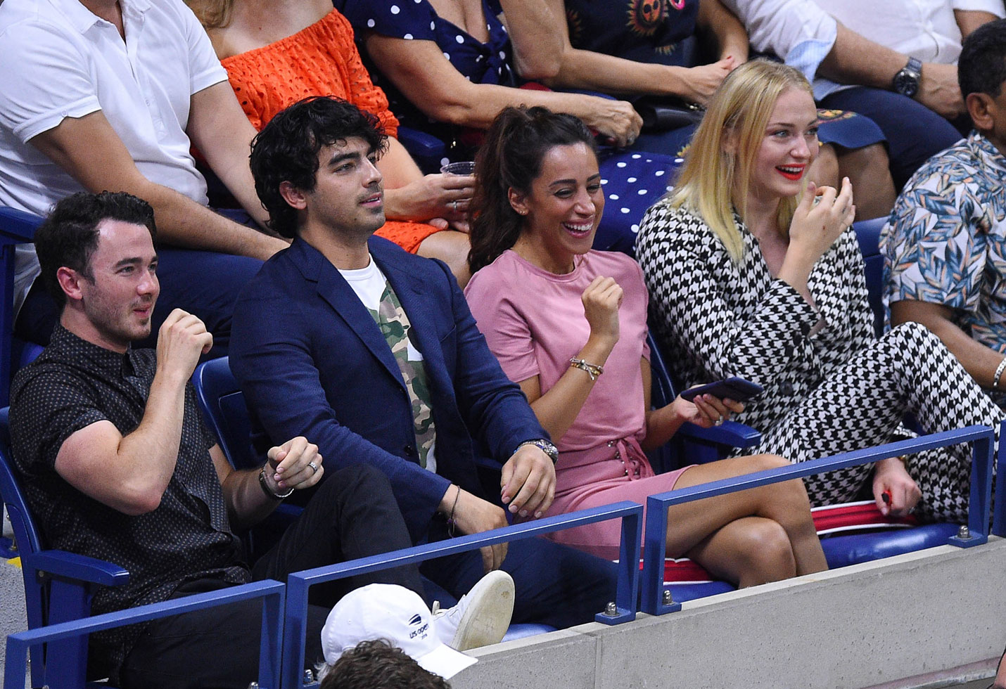 US Open 2018 Celebrities Joe Jonas Sophie Turner Kevin Jonas Bill Clinton Anna Wintour Aziz Ansari