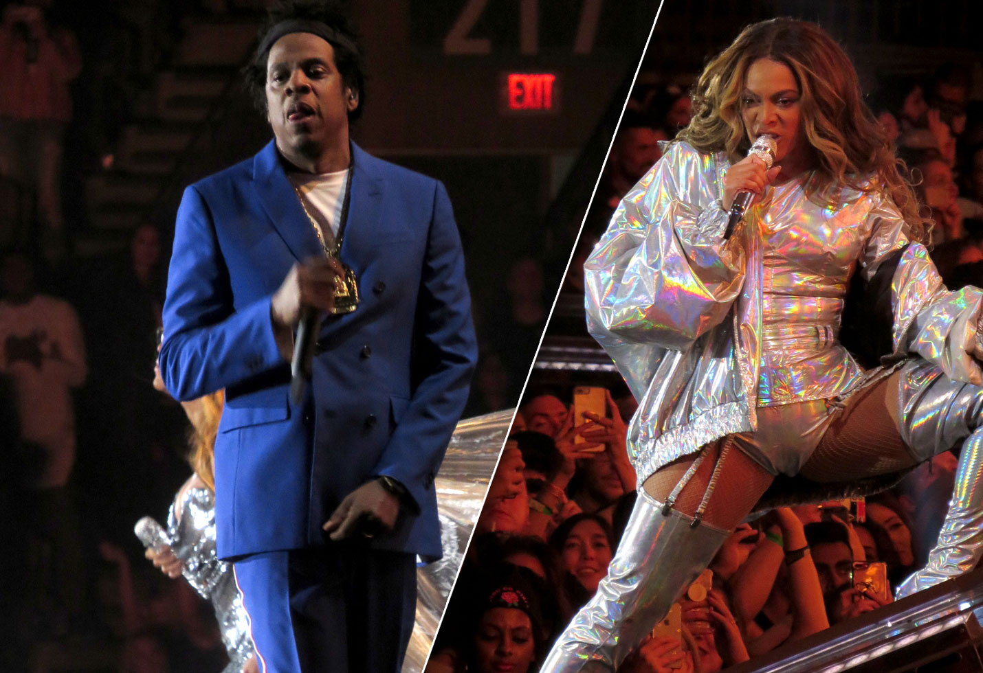 Beyonce Jay-Z OTR II concert Vancouver outfits costumes