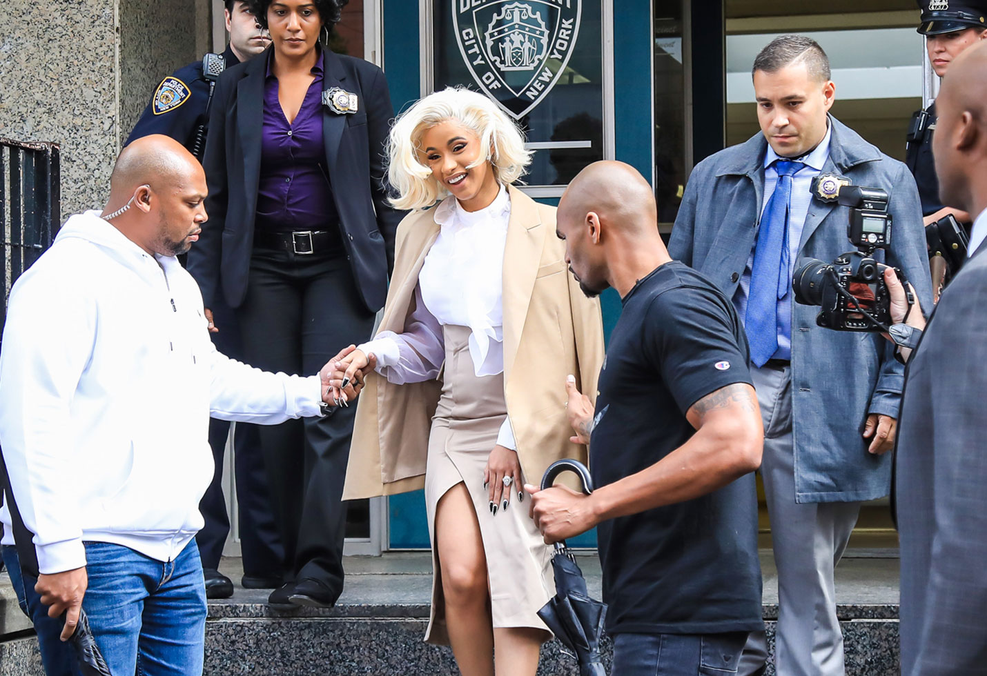 Cardi B Turns Herself In Photos NYPD Queens Strip Club Fight Offset Mugshot