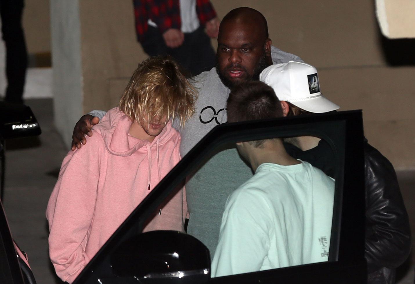 Justin Bieber Selena Gomez hospital church comfort