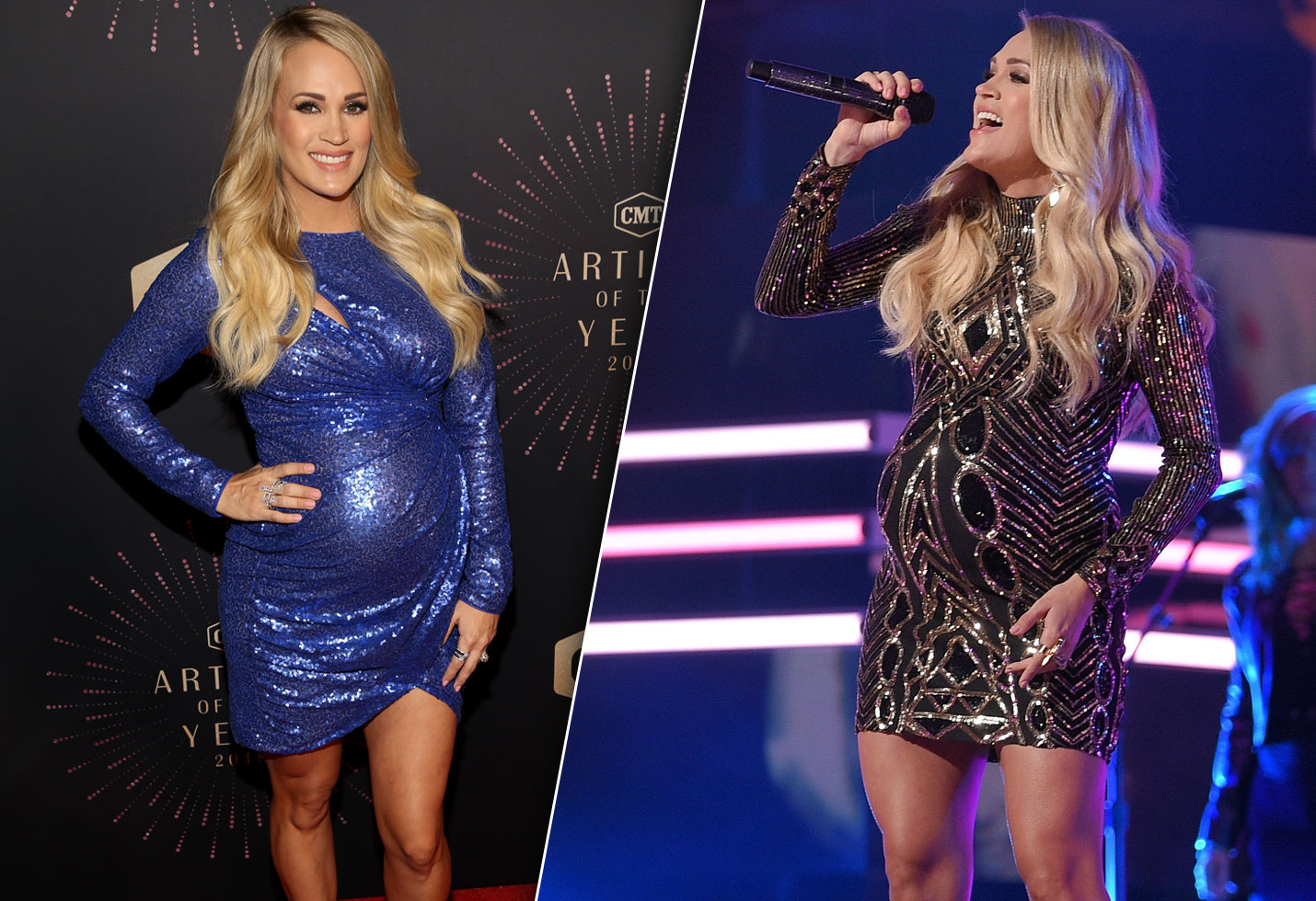 Pregnant Carrie Underwood Women Country Awards Baby Bump