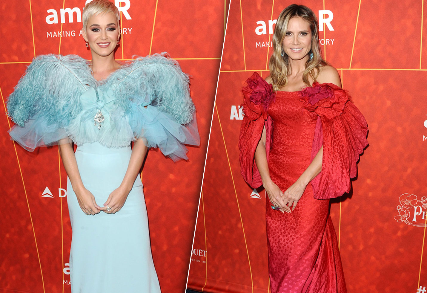 amFAR Gala 2018 Los Angeles Katy Perry Heidi Klum