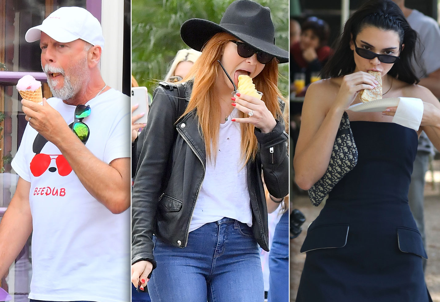 Celebrities Eating Food Bruce Willis Kendall Jenner Julianne Hough