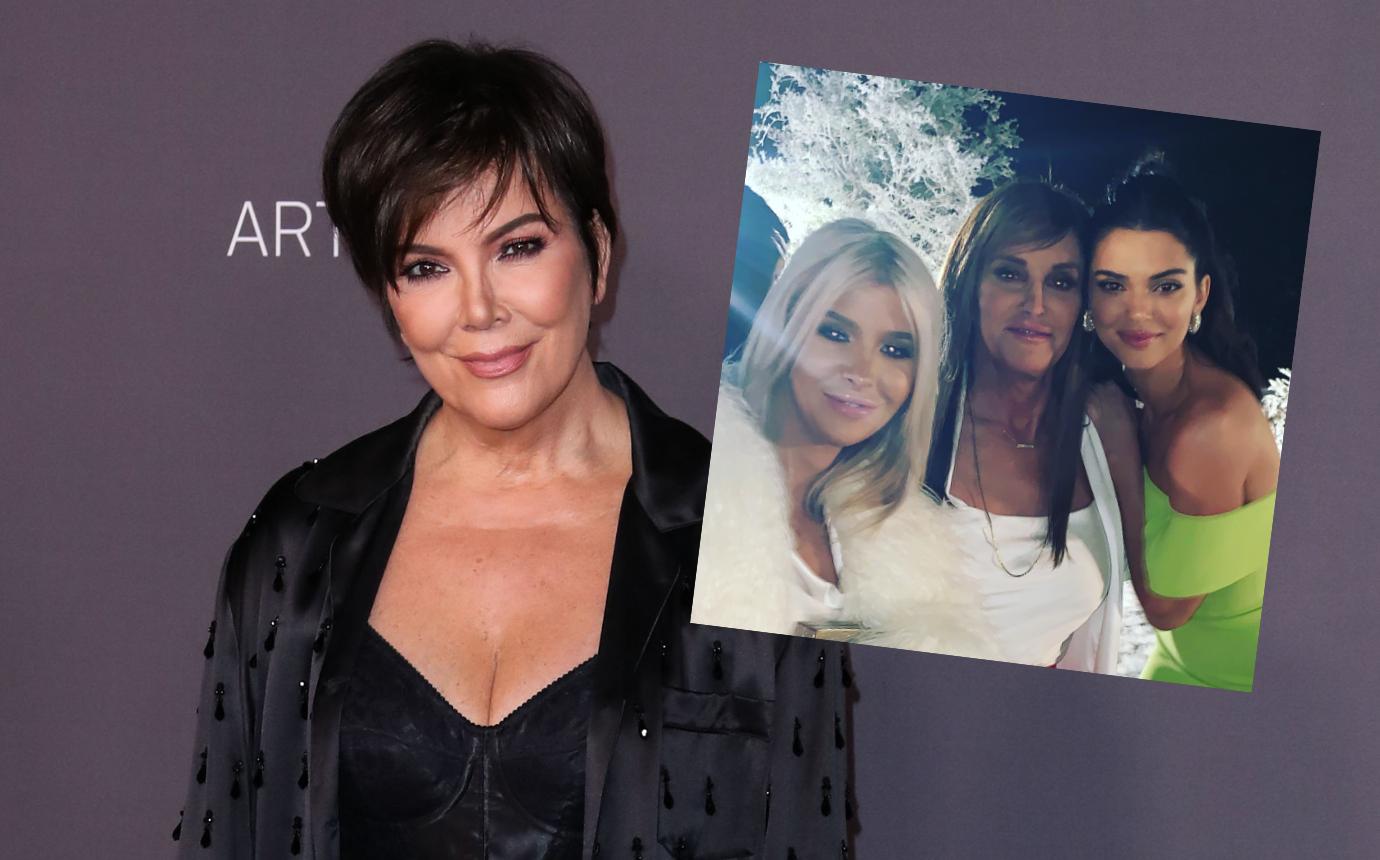 Caitlyn jenner Sophia Hutchins Kris Jenner Christmas Party