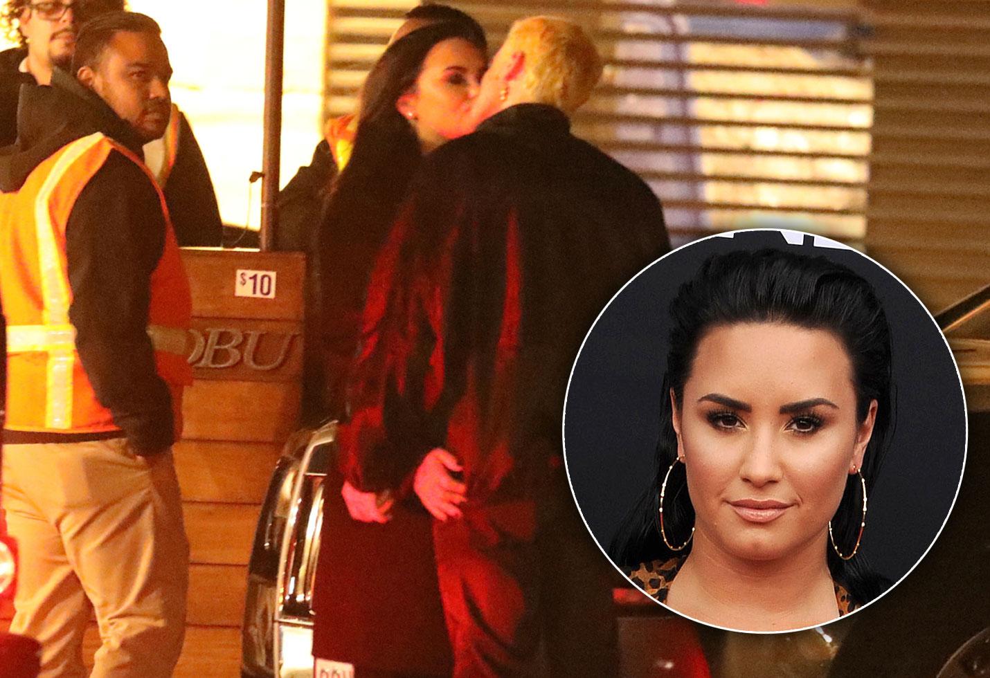 Demi Lovato & Boyfriend Henri Levy Caught Kissing Post-Rehab