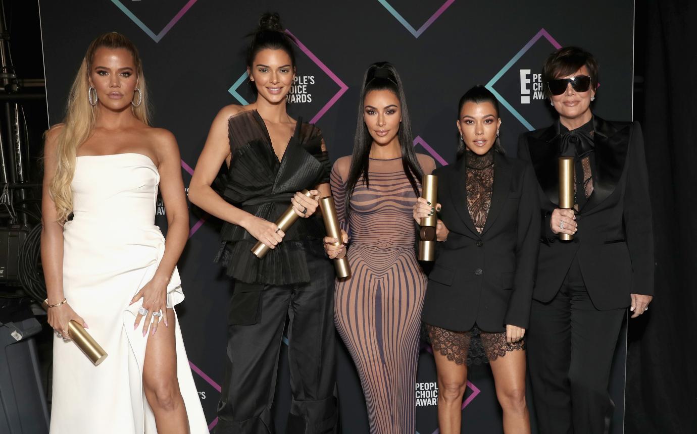 Kardashian christmas card 2018 kim khloe kylie