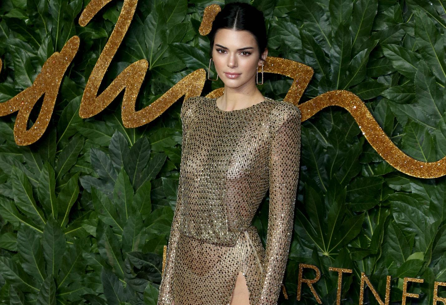 Kendall jenner sheer dress fashion awards