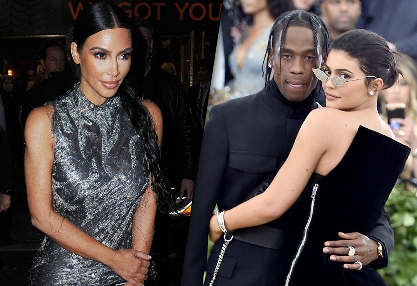 Kim kardashian kylie jenner married travis scott