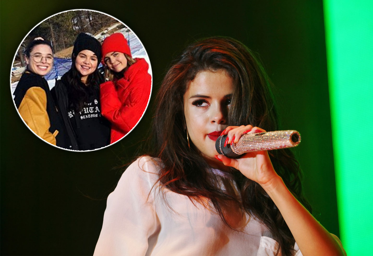 Selena gomez leaves rehab skiing photos