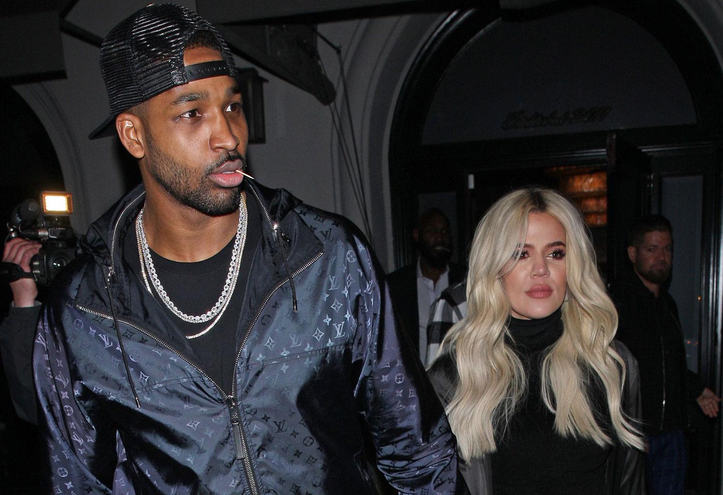 Khloe kardashian attends tristan thompson nba game los angeles photos