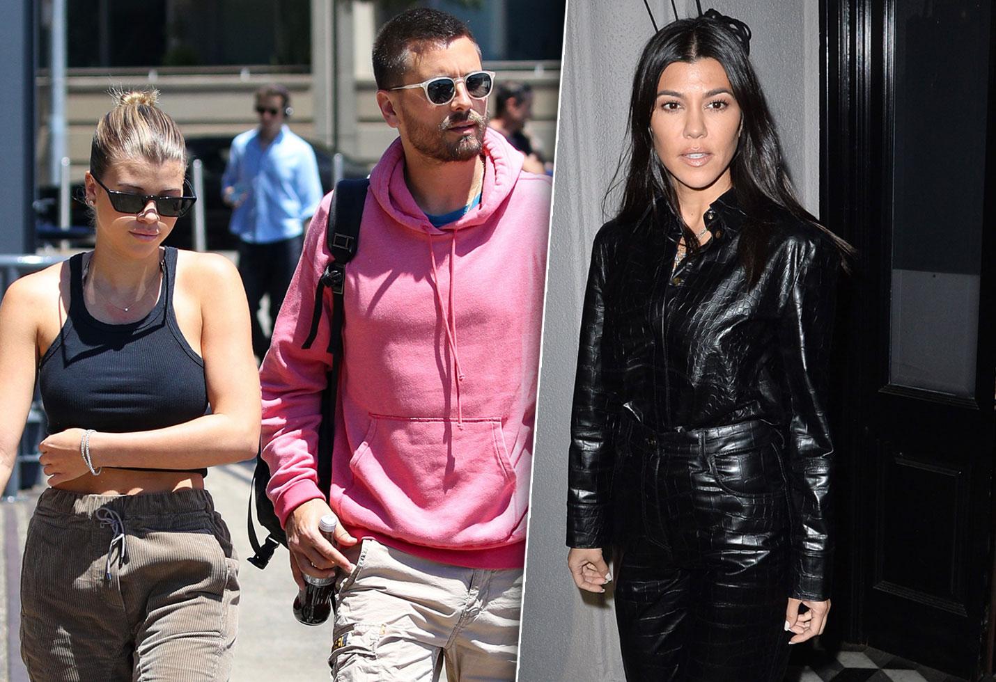 Kourtney Kardashian Reaction Scott Disick Sofia Richie Engagement