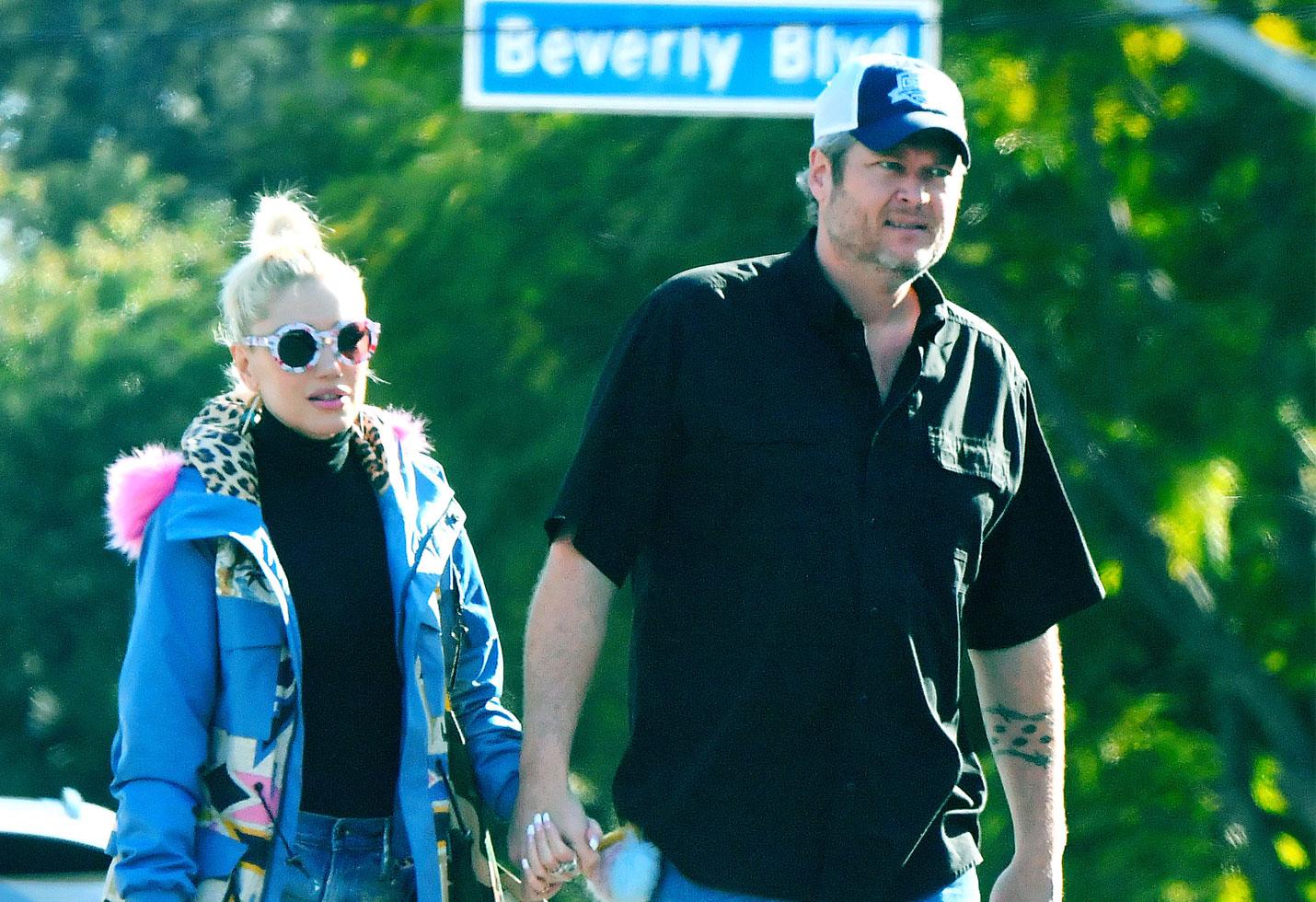 Blake Shelton And Gwen Stefani Wedding Pictures.Gwen Stefani Blake Shelton Head To Church Amid Wedding Rumors
