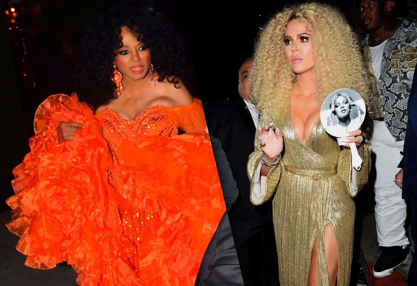 Diana ross birthday party photos beyonce khloe kardashian wig kourtney