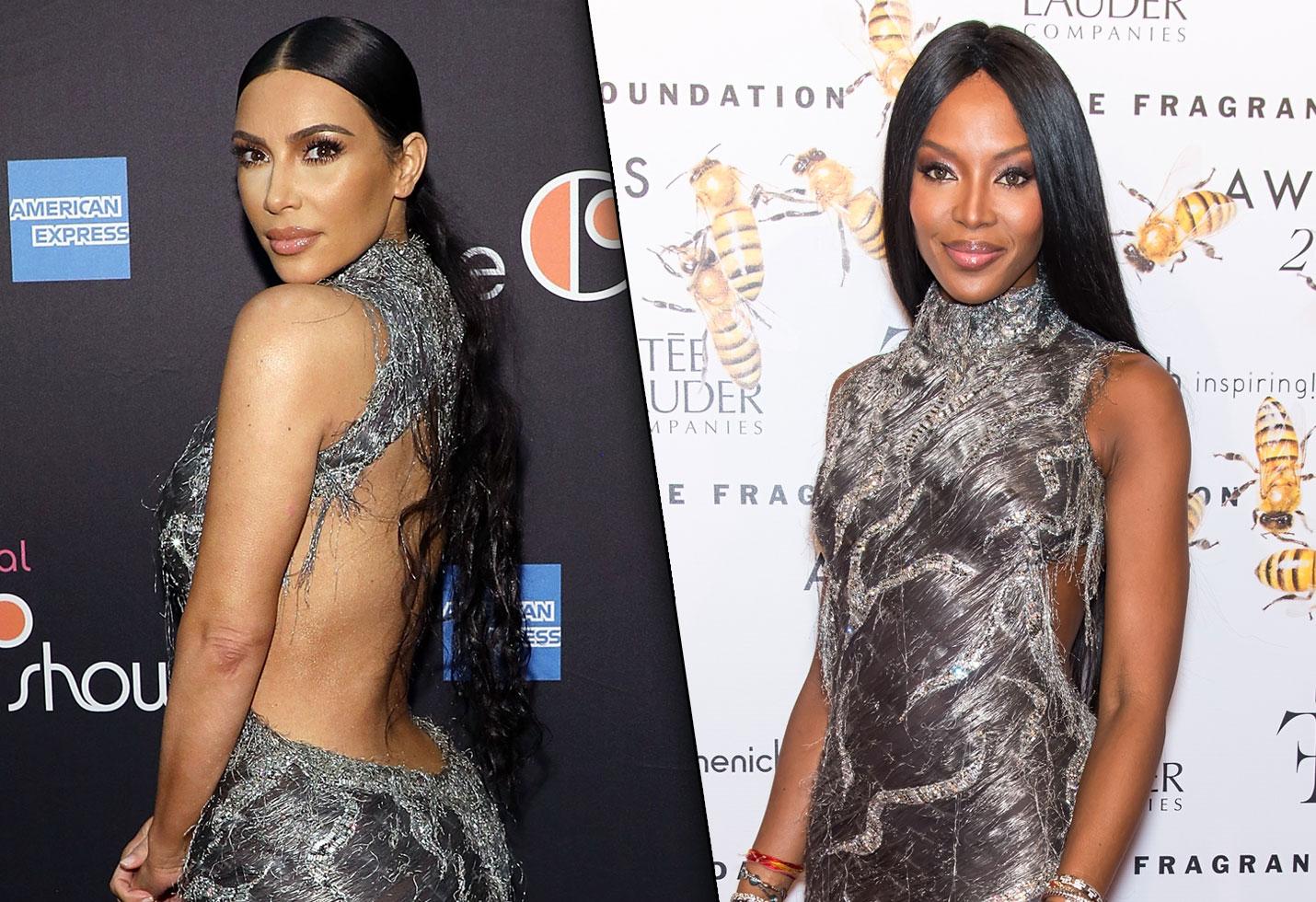 Kim kardashian responds naomi campbell stolen dresses