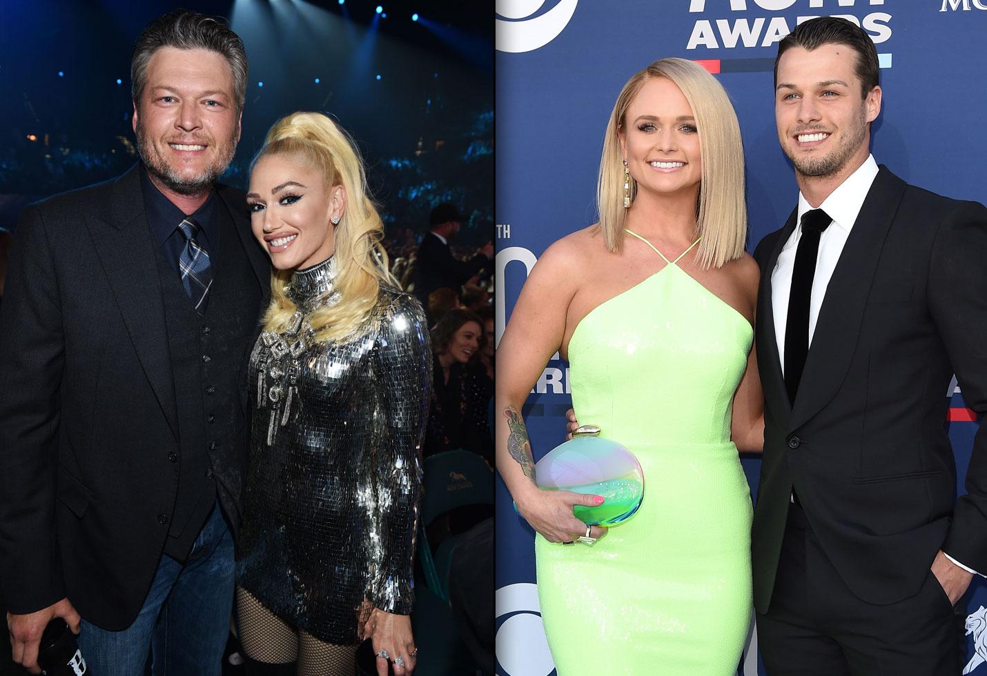 ACM Red Carpet: Gwen & Blake Avoid Miranda Lambert & Her Husband