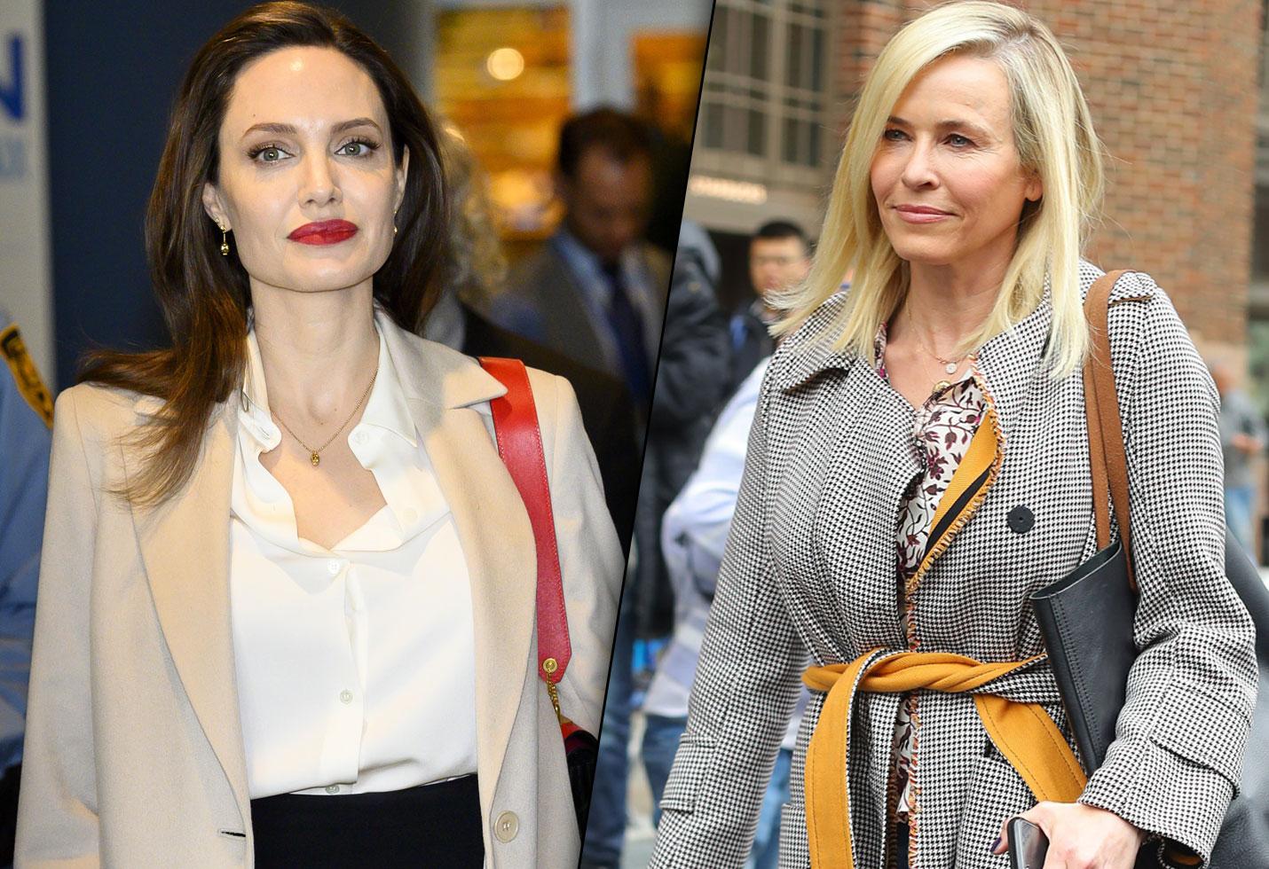 Angelina jolie chelsea handler feud melissa etheridge jennifer aniston