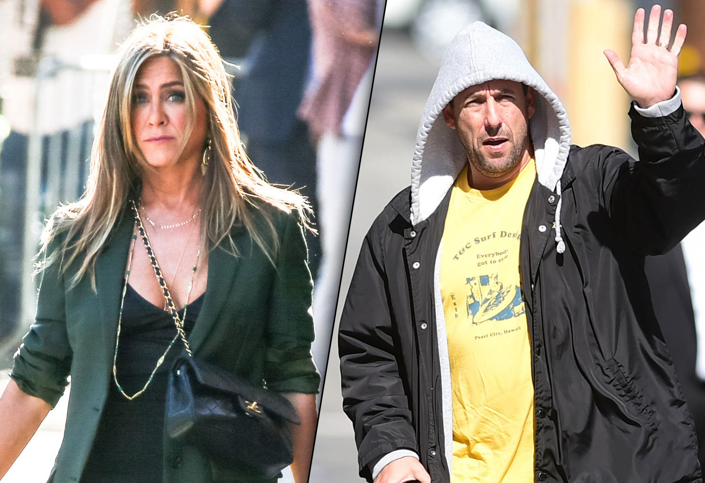 Jennifer Aniston & Adam Sandler Promote New Movie On 'Kimmel'