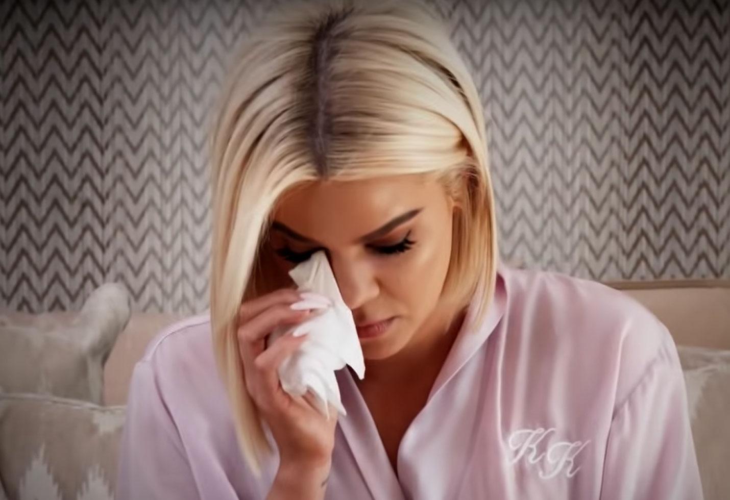 Kuwtk trailer khloe kardashian crying tristan thompson jordyn woods cheating