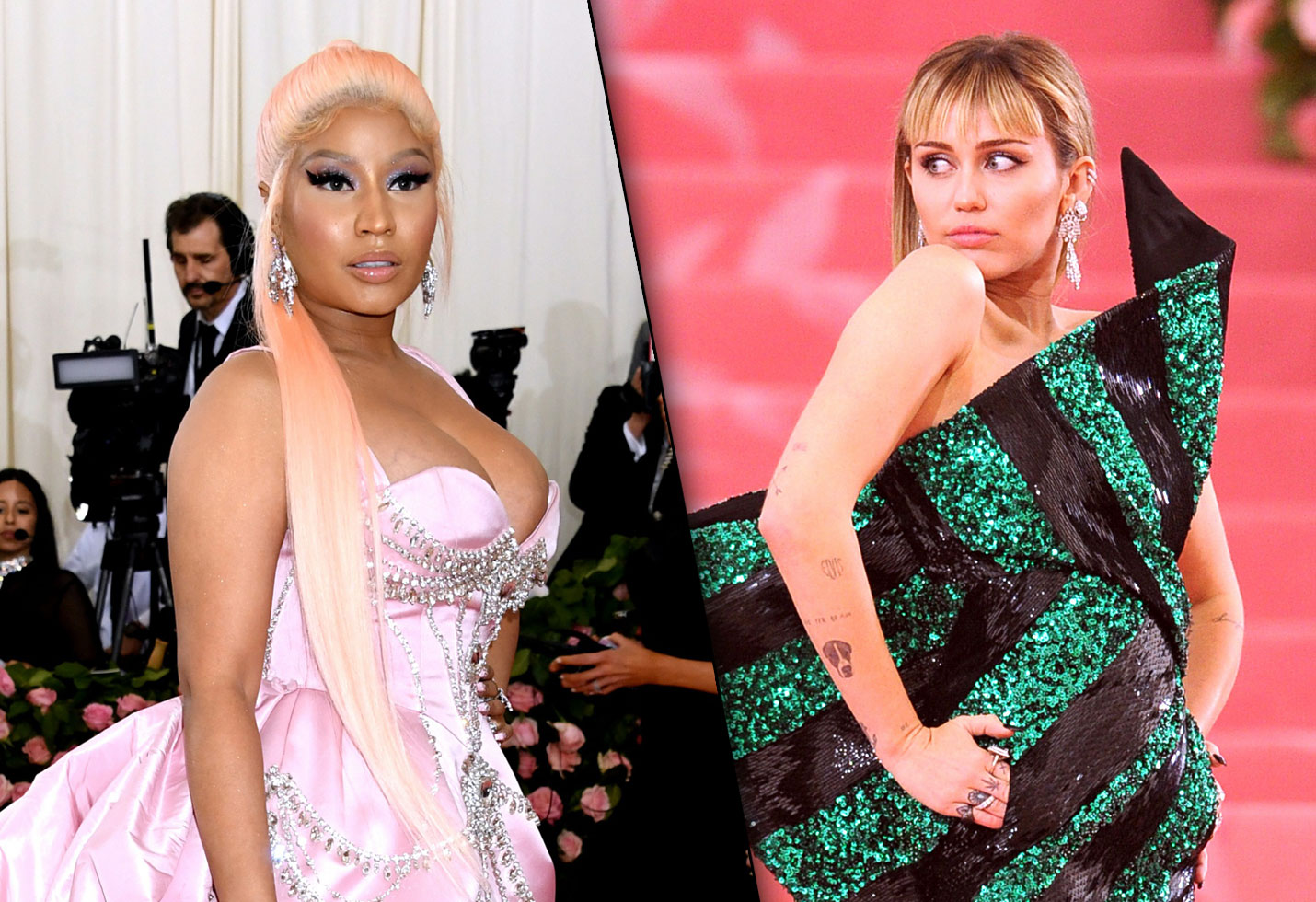 Miley cyrus nicki minaj feud cardi b new song