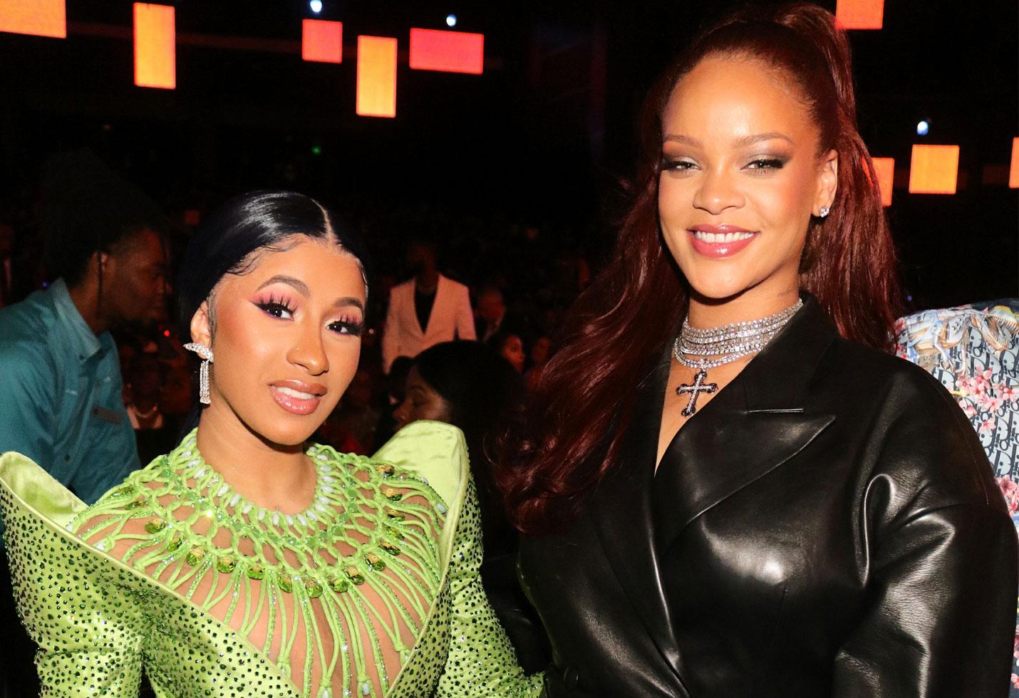 Bet awards 2019 red carpet Cardi B Rihanna