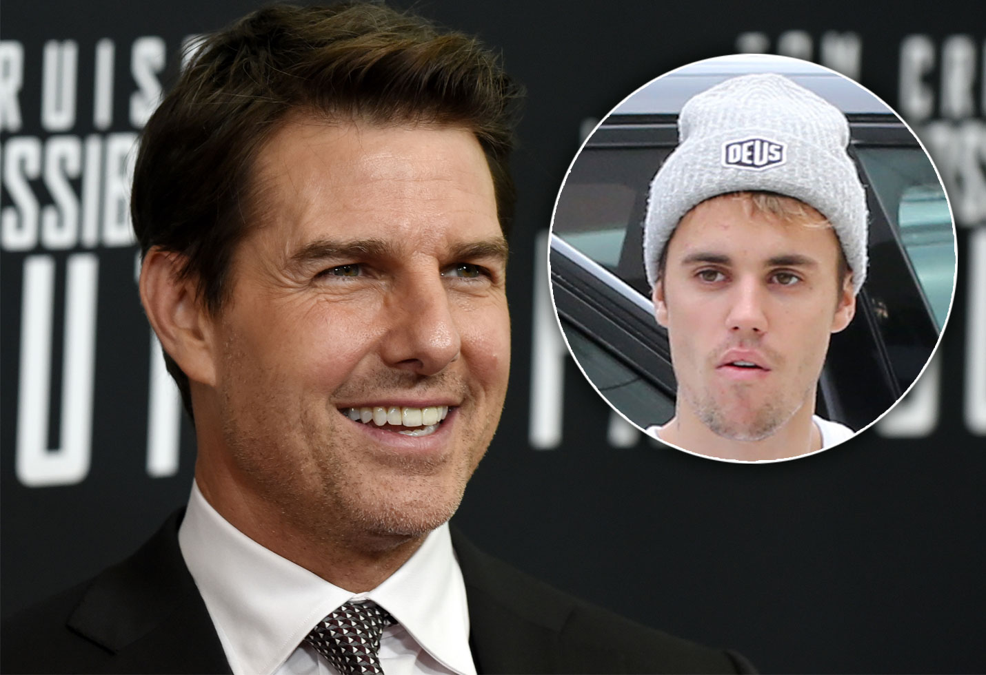 tom Cruise and Justin Bieber