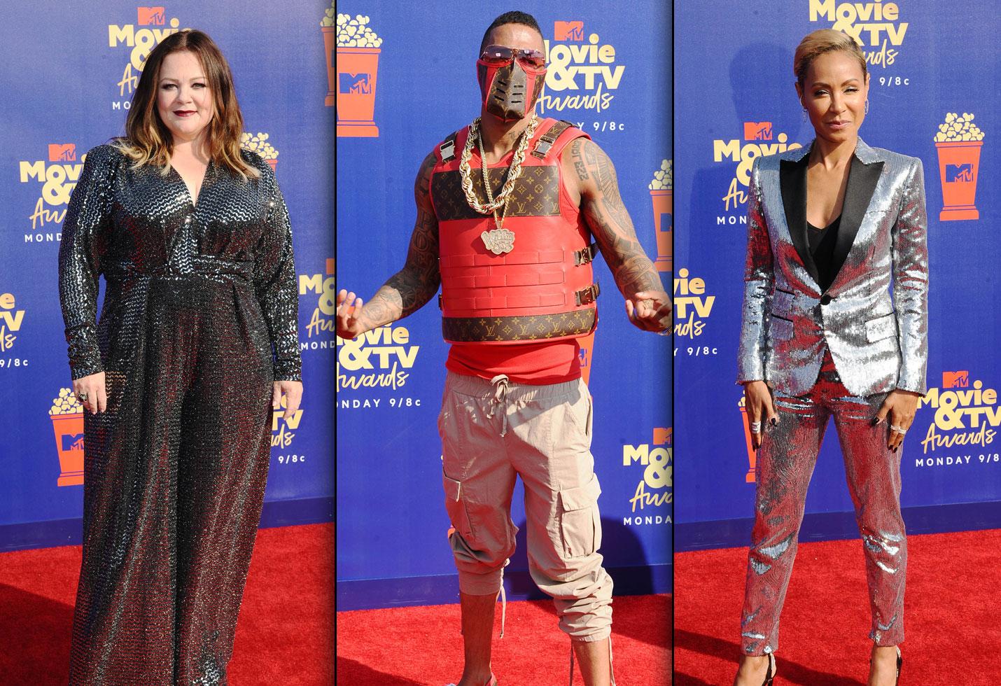 Mtv movie tv awards 2019 red carpet Melissa McCarthy, Nick Cannon and Jada Pinkett Smith