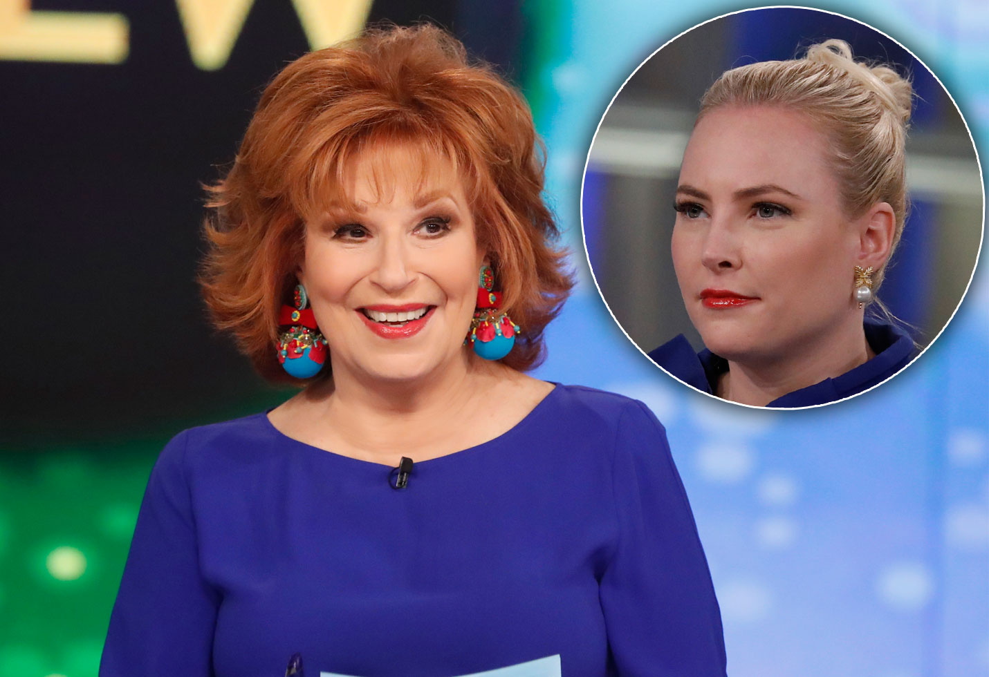 Joy Behar blue shirt / Meghan McCain frowning