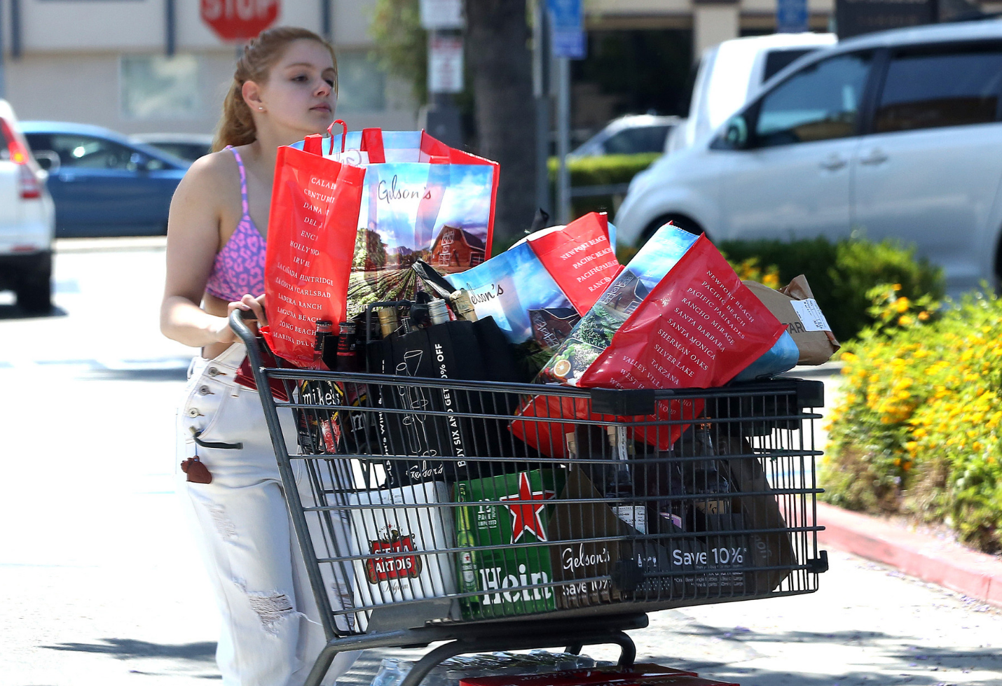 Ariel Winter buying alcohol