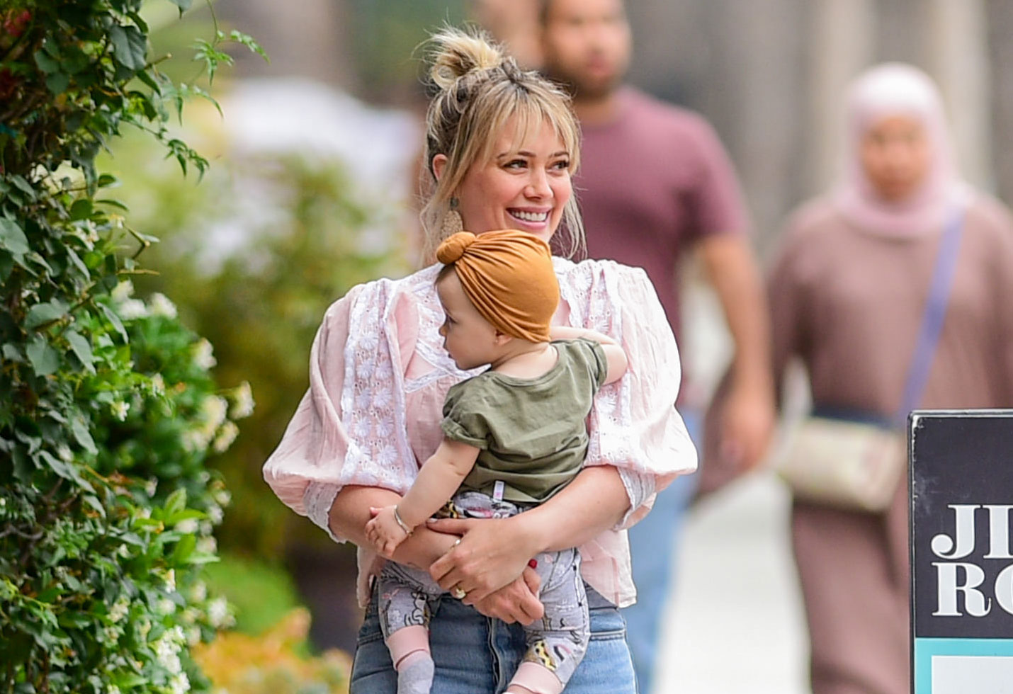 Hilary Duff and baby Banks
