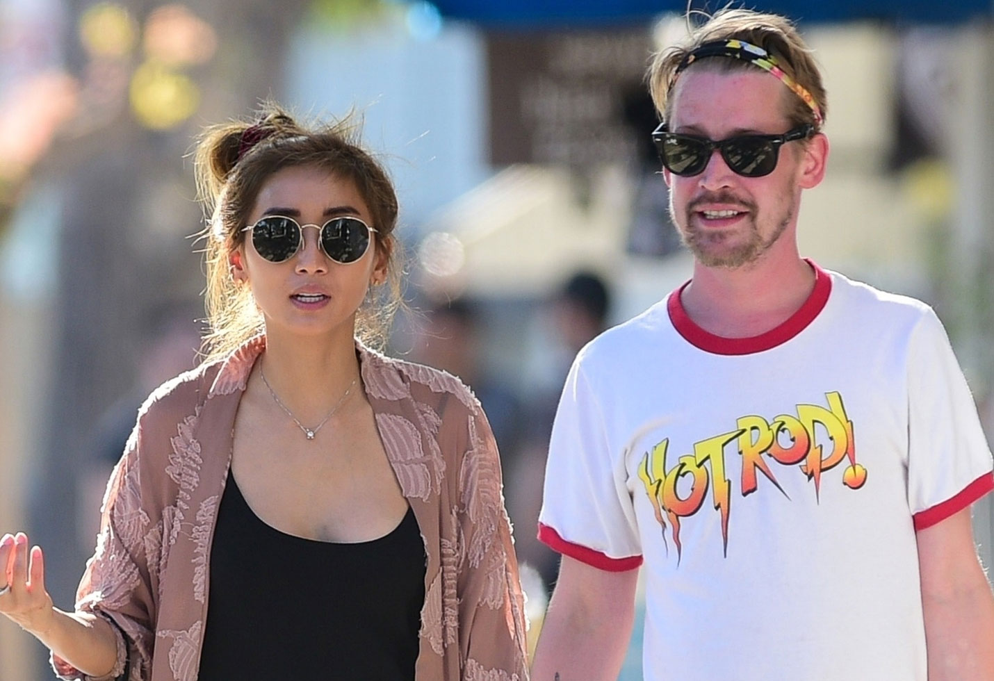 Macaulay Culkin and girlfriend Brenda Song