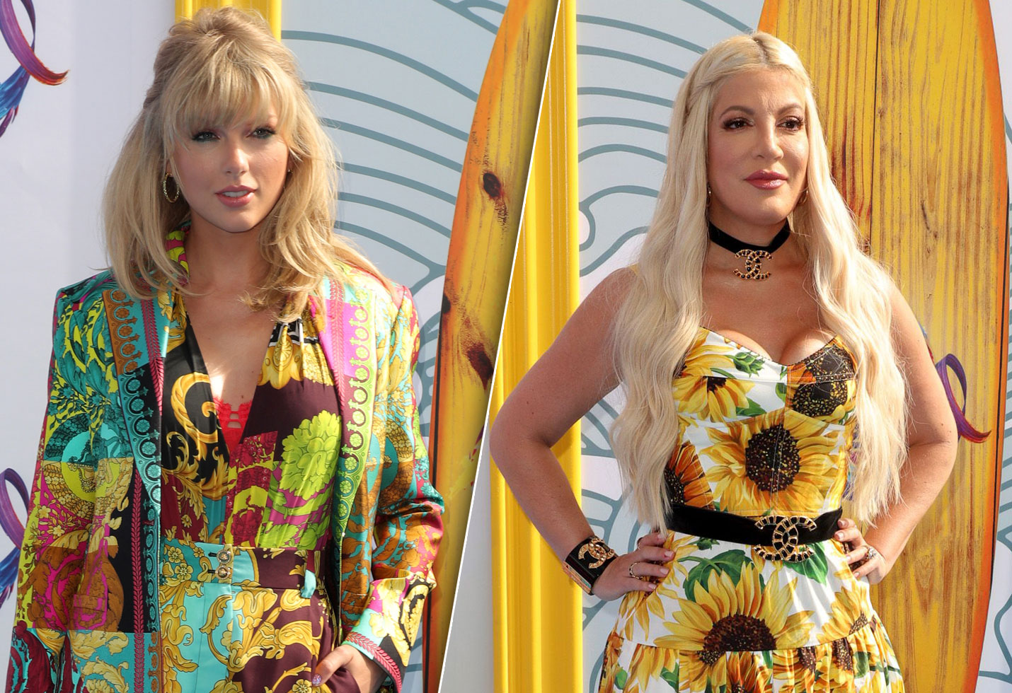 Tori Spelling and Taylor Swift