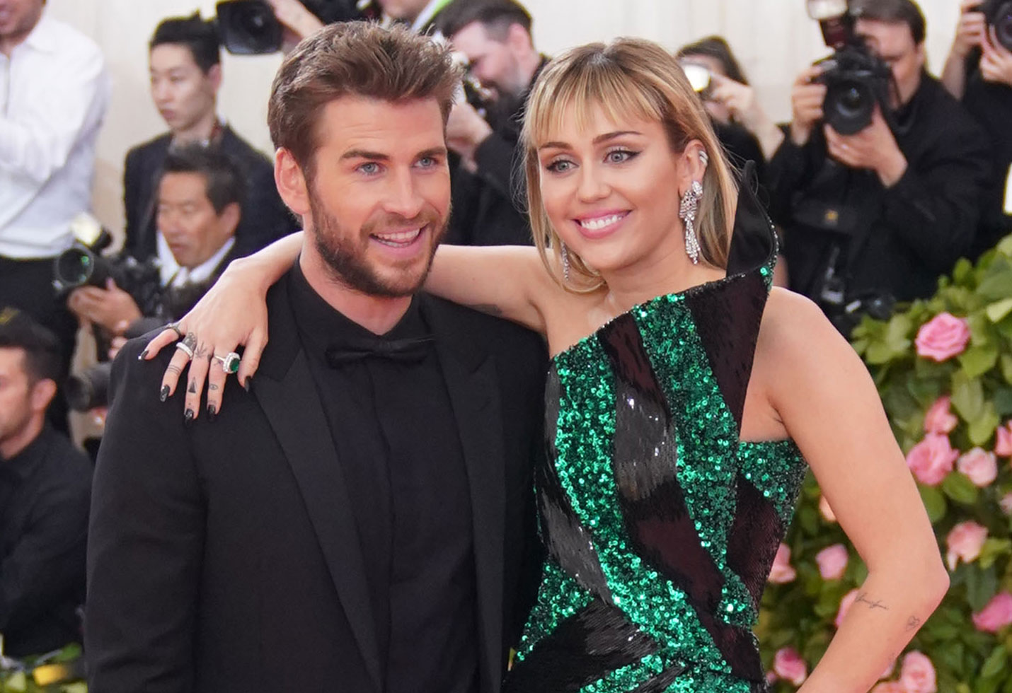-PICTURED: Liam Hemsworth and Miley Cyrus